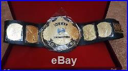 WWF WWE Classic Gold Winged Eagle Championship Belt Adult Size with WOODEN CASE
