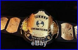 WWF WWE Classic Gold Winged Eagle Championship Belt. Adult size