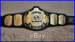 WWF WWE Classic Gold Winged Eagle Championship Leather Belt Replica Adult Size