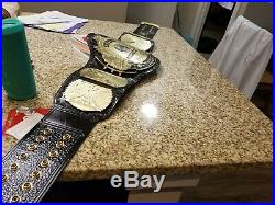 WWF/WWE Classic Winged Eagle Championship replica Adult Belt on a leather strap