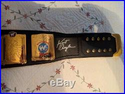 WWF WWE European Championship Replica Belt on Real leather