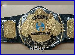WWF/WWE Gold Classic Winged Eagle Championship Replica Belt Metal Plate Adult