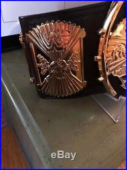 WWF/WWE Master Series Winged Eagle & Intercontinental Championship Belts