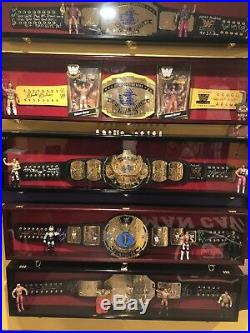WWF WWE ULTIMATE WARRIOR Signed Vintage IC Replica Championship Belt 4 INSCR PSA