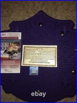 WWF WWE Undertaker Autographed Signature Series Official WWE Title Belt JSA