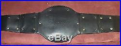Wwf Wwe World Championship Belt 2001 Attitude Era Leather Metal Figures Toy Co