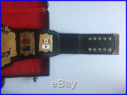 WWF WWE WORLD HEAVYWEIGHT CHAMPIONSHIP Belt Adult Size Custom made Metal Plates