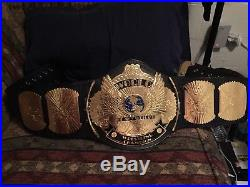 WWF / WWE Winged Eagle Championship Belt Replica Signed By 10 Superstars/legends