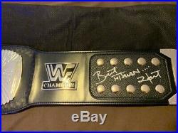 WWF/WWE Winged Eagle Championship Belt Signed Autographed BRET HITMAN HART Adult