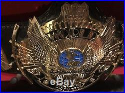 WWF WWE Winged Eagle Championship Belt Signed RE LEATHERED MASTER SERIES