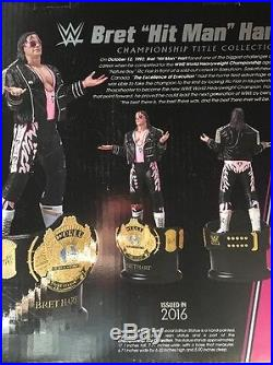 WWF WWE Winged Eagle Championship Statue Belt Signed By Bret Hart