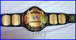 WWF/WWE Winged Eagle Leather Wrestling Championship Adult Metal Replica Belt