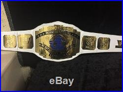 WWF White Strapped Intercontinental Championship Title Belt, WWE, Adult Replica