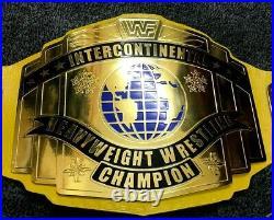 WWF World Heavyweight intercontinental Championship replica belt WWE yelow strp
