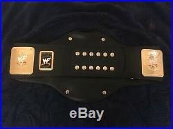 WWF attitude era world wrestling championship leather belt