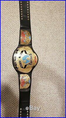 Wcw World Tag Team Championship Wwe Invasion Metal Adult Size Replica Title Belt