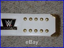 White Wwe Intercontinental Championship Metal Adult Replica Wrestling Title Belt