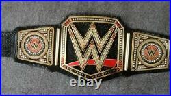 World Heavy Weight Championship Replica Title Belt Adult Size 2MM Brass Black