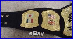 World Premiere Championship Wrestling Belt Wwe Wwf Nwa Wcw Title Replica