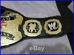 World Tag Team Wwe Wrestling Championship Belt Adult Size 2mm Plate
