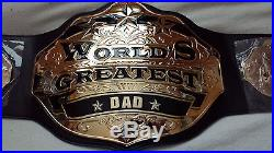 World's Greatest Dad Championship Belt WWE WCW TNA BRAND NEW! REAL METAL BELT