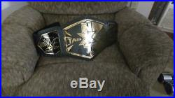 Wow! Wwe Nxt Tag Team Championship Adult Size Replica Belt With Gold Tip