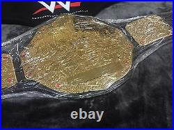 Wwe Big Gold World Heavyweight Championship Wrestling Belt Custom Nameplate