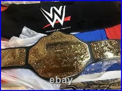 Wwe Big Gold World Heavyweight Championship Wrestling Belt Free Custom Plate Wwf
