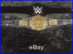 Wwe Big Gold World Heavyweight Championship Wrestling Belt Red Croc Custom Plate