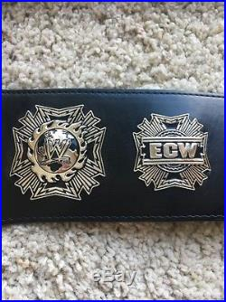 Wwe Ecw Championship Belt- Kids Size-real Leather New Retired Authentic Licensed