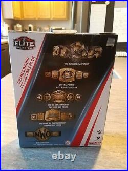 Wwe Elite Ringside Exclusive Championship Collectors Pack Belts Rare Brand New
