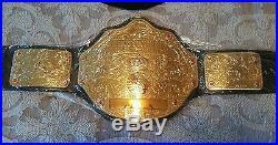 Wwe Heavyweight Championship Title Belt. Big Gold Version, Replica, Metal Plates
