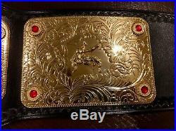 Wwe Releathered Big Gold Championship Wrestling Belt Officially Licensed