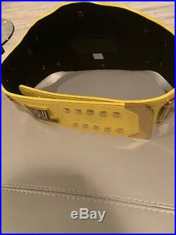 Wwe Shop Ultimate Warrior Yellow Intercontinental Championship Belt Replica Wwf
