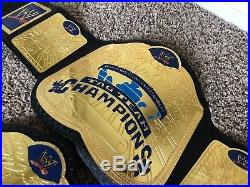 Wwe Smackdown Tag Team Championship Belts Pair Replica Metal Leather Adult Size
