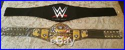 Wwe United States Championship Replica Title Belt. Metal Plates, Leather Straps