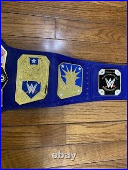 Wwe United States Heavyweight Championship Blue Belt 2mm Brass Adult Free Ship