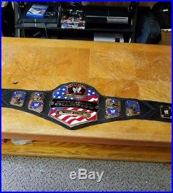 Wwe United States championship belt by Figs inc. (releathered) adult size