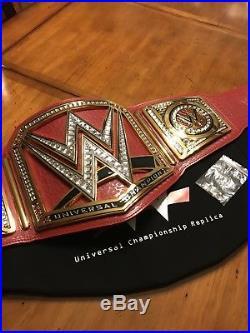 Wwe Universal Championship Metal Adult Size Raw Licensed Replica Title Belt