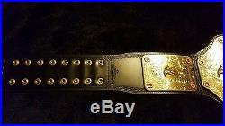 Wwe Wcw Ric Flair Deluxe Big Gold Championship Belt Autographed
