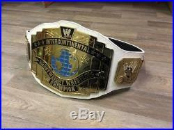 Wwe White Intercontinental Championship Adult Size Metal Replica Belt
