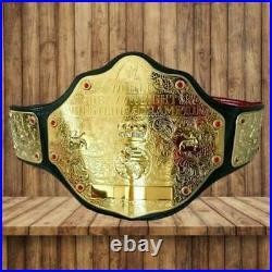 Wwe World Heavyweight Big Gold Championship Replica Belt 2mm Brass Genuine Leath