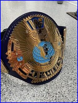Wwe Wwf Attitude Era Big Eagle Block Logo Championship Title Belt Snakeskin Back