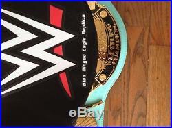 Wwe Wwf Blue Winged Eagle Championship Title Belt Replica Metal