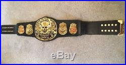 Wwe Wwf Stone Cold Smoking Skull Championship Adult Replica Belt With Case