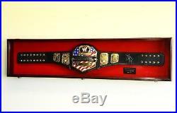 Wwe Wwf Wrestling Championship Adult Size Belt Display Case Frame Cabinet Box