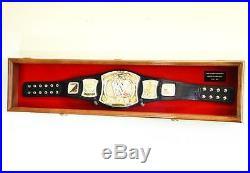 Wwe Wwf Wrestling Championship Belt Kid's Youth Display Case Frame Cabinet 44