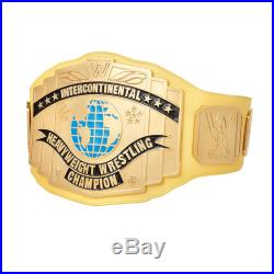 Wwe Yellow Intercontinental Championship Adult Size Metal Replica Belt With Case