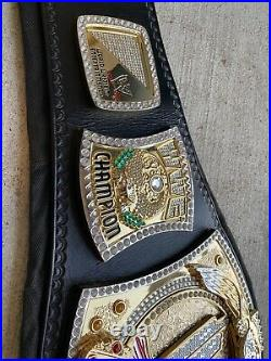 Wwe spinner championship real leather belt