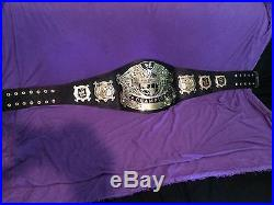 Wwe undisputed championship v2 championship belt on real leather/restoned